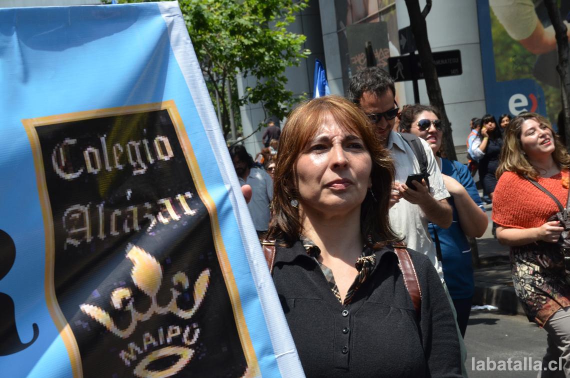 Profesores de maip participaron de vigorosa manifestaci n for Viveros en santiago maipu