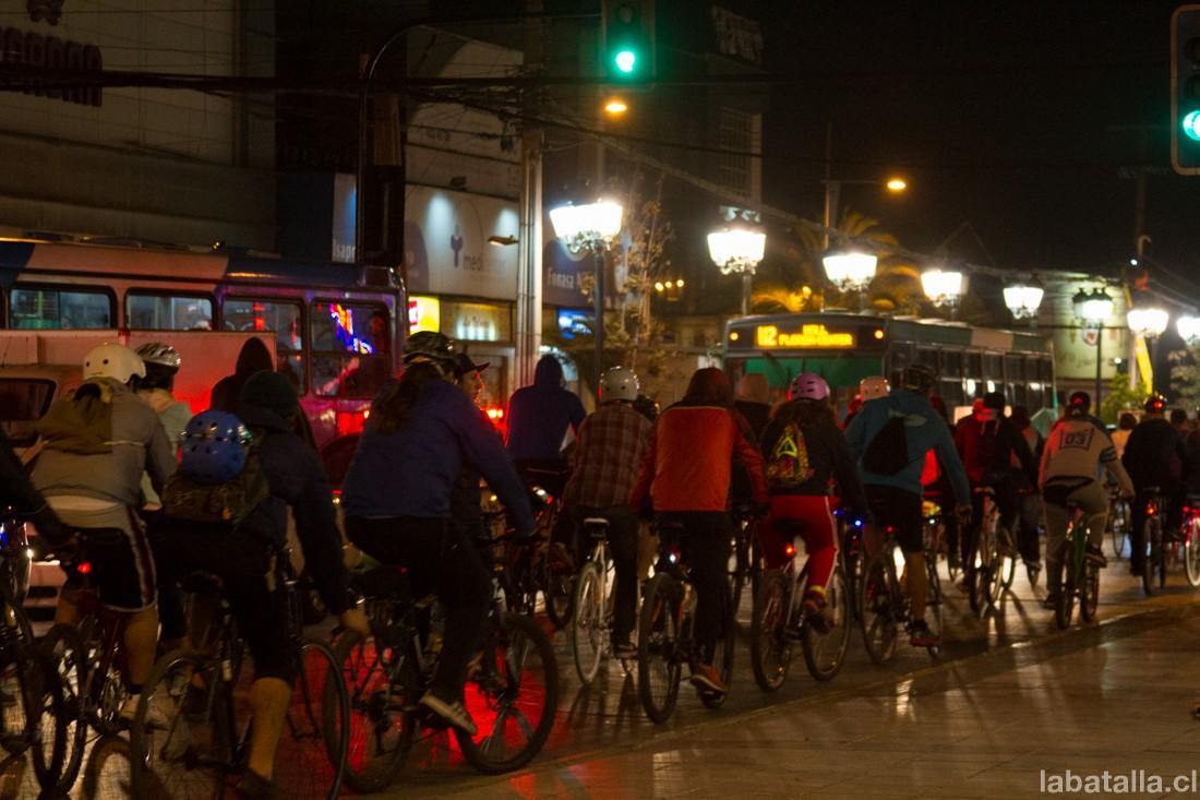 Las imágenes de la Cicletada del primer jueves del mes en Maipú