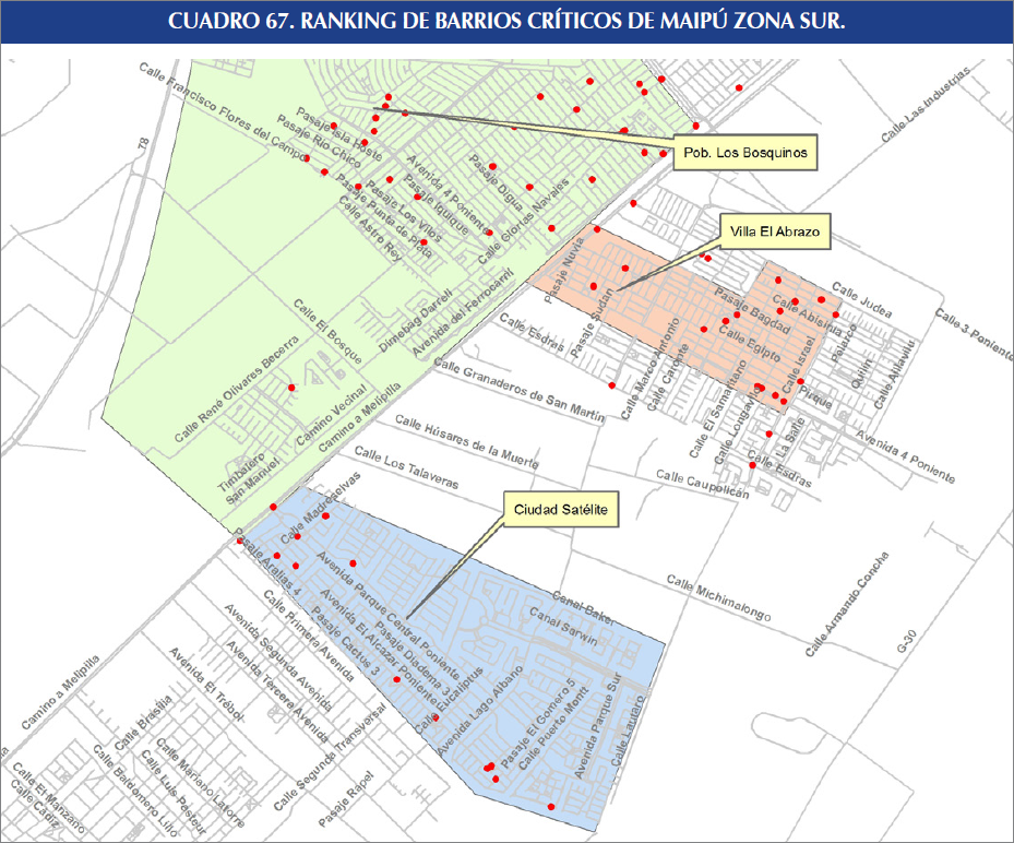 Identifican m s de veinte barrios cr ticos por for Viveros en maipu